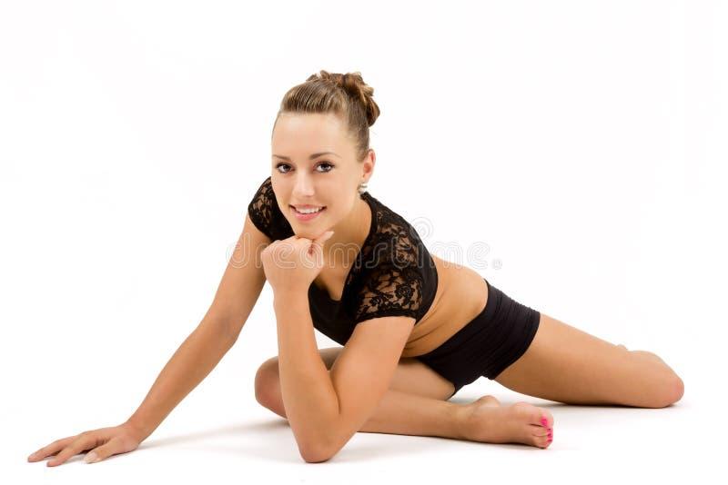 Νέα επαγγελματική gymnast γυναίκα στοκ εικόνες με δικαίωμα ελεύθερης χρήσης