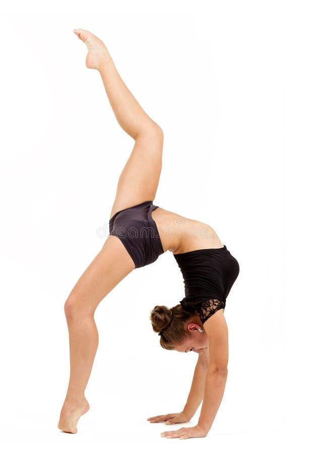 Νέα επαγγελματική gymnast γυναίκα στοκ εικόνα