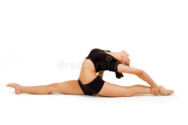 Νέα επαγγελματική gymnast γυναίκα στοκ φωτογραφία με δικαίωμα ελεύθερης χρήσης
