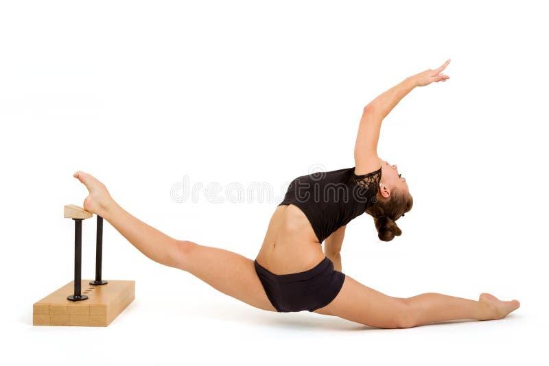 Νέα επαγγελματική gymnast γυναίκα στοκ φωτογραφία