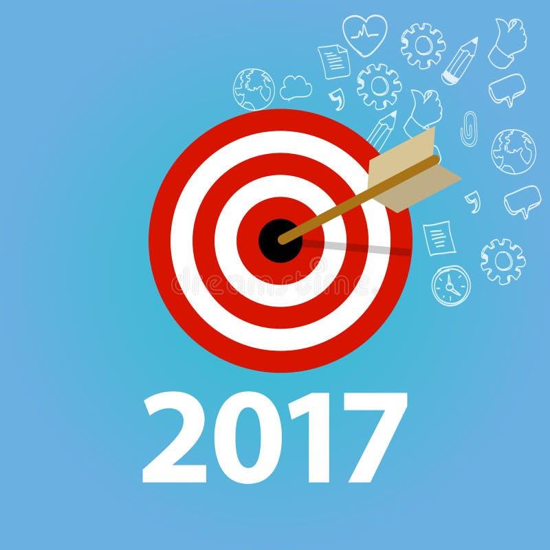 Νέα επιχείρηση ψηφίσματος έτους ελέγχου καταλόγων στόχου στόχων στόχων προσωπική ελεύθερη απεικόνιση δικαιώματος