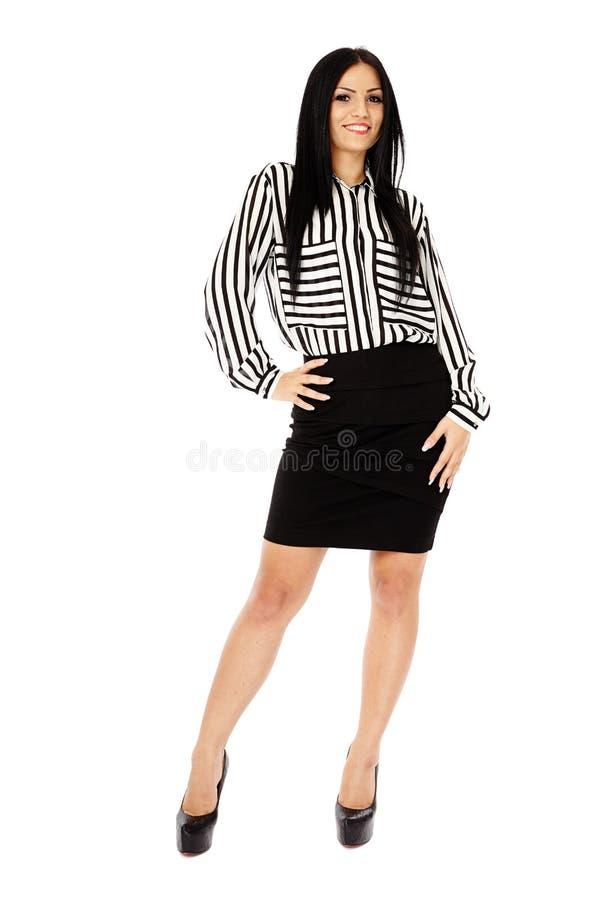Νέα επιχειρησιακή κυρία στο λευκό στοκ εικόνες με δικαίωμα ελεύθερης χρήσης