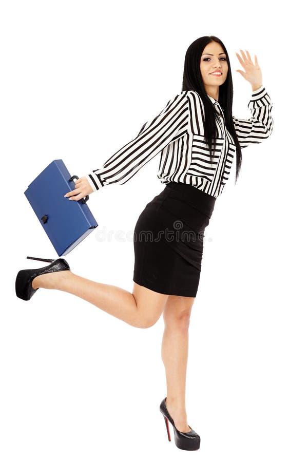 Νέα επιχειρησιακή κυρία στο λευκό στοκ φωτογραφίες με δικαίωμα ελεύθερης χρήσης