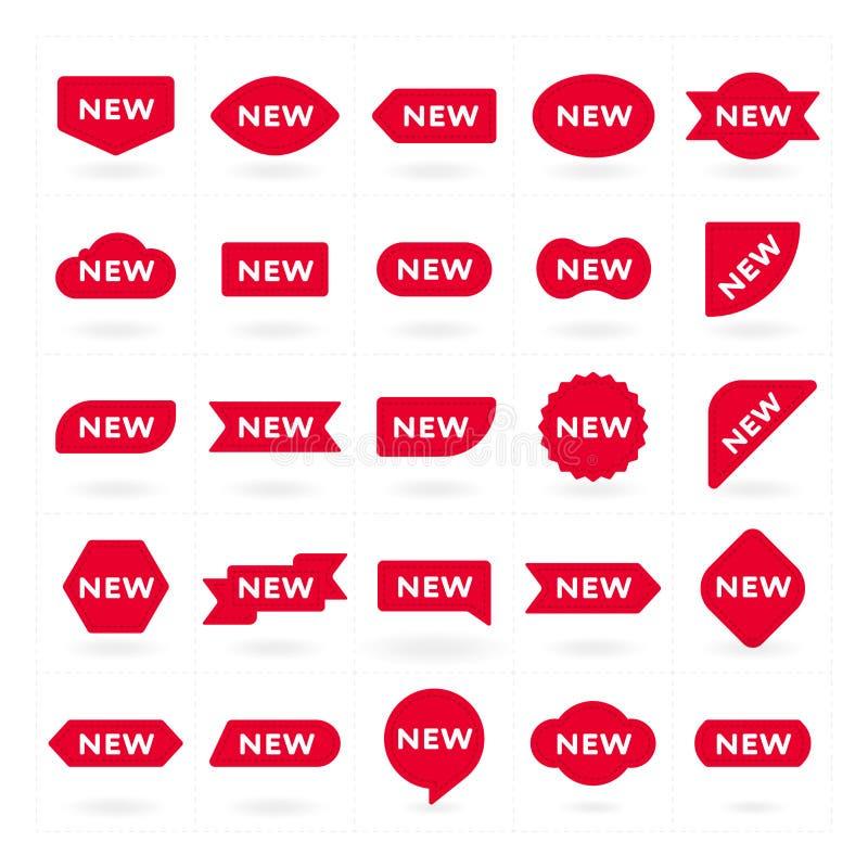 Νέα ετικέτα, σύμβολο για τη διαφημιστική καμπάνια απεικόνιση αποθεμάτων
