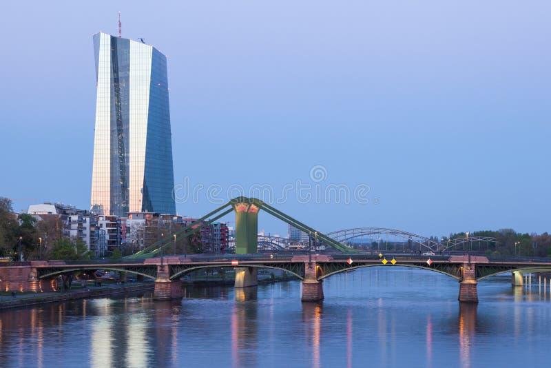 Νέα Ευρωπαϊκή Κεντρική Τράπεζα (ΕΚΤ) στη Φρανκφούρτη στοκ εικόνες