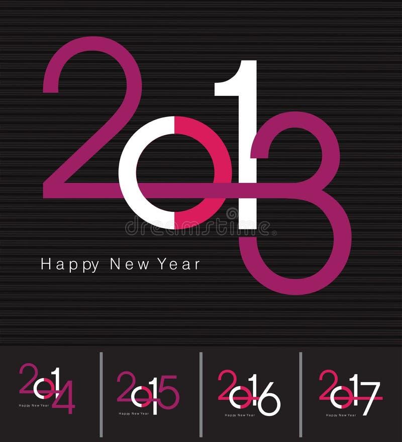 Νέα ευχετήρια κάρτα έτους απεικόνιση αποθεμάτων