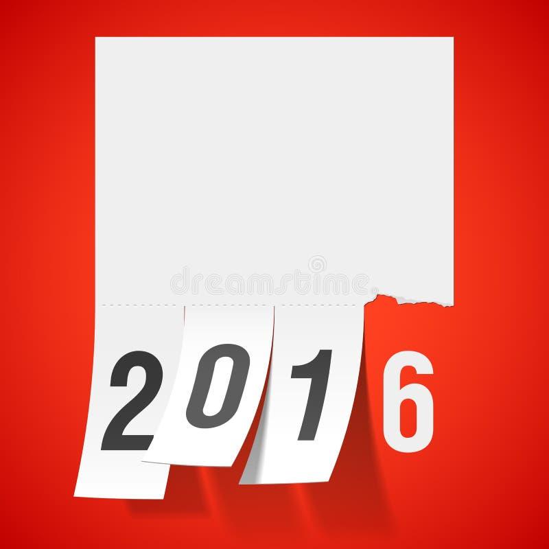 Νέα ευχετήρια κάρτα έτους 2016 απεικόνιση αποθεμάτων
