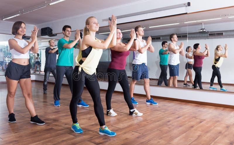 Νέα εύθυμα στοιχεία zumba ανθρώπων χορεύοντας στοκ εικόνες με δικαίωμα ελεύθερης χρήσης