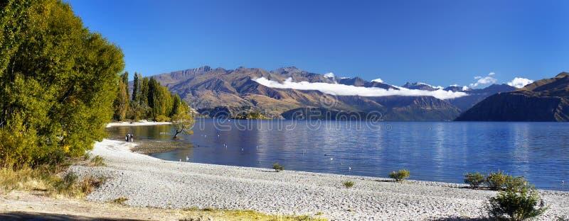 Νέα Ζηλανδία, τοπίο τοπίων Wanaka λιμνών βουνών στοκ εικόνες