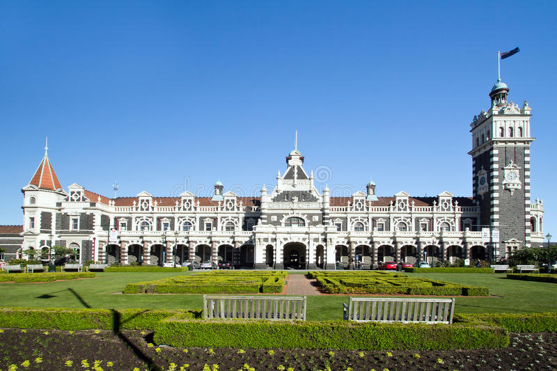 Νέα Ζηλανδία, dunedin, σιδηροδρομικός σταθμός στοκ φωτογραφίες