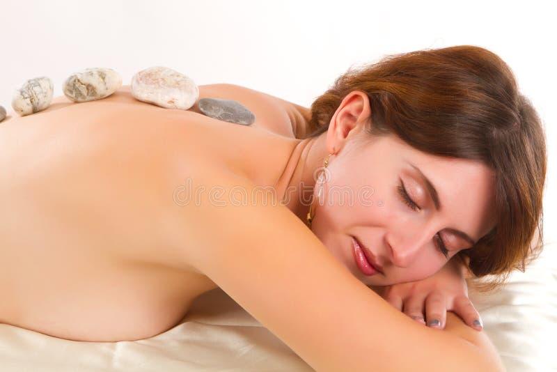 Νέα θεραπεία πετρών γυναικών receves στοκ εικόνες