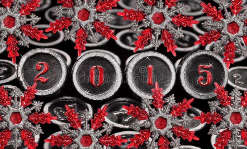Νέα διακόσμηση έτους, 2015 στοκ φωτογραφία με δικαίωμα ελεύθερης χρήσης