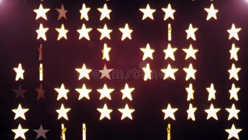 Νέα καθολική ζωηρόχρωμη χαρούμενη εικόνα αποθεμάτων διακοπών μουσικής χορού υποβάθρου απεικόνισης φλογών αστεριών τοίχων Disco διανυσματική απεικόνιση