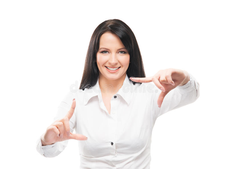Νέα και ελκυστική εργασία επιχειρησιακών γυναικών στην αρχή στοκ φωτογραφίες