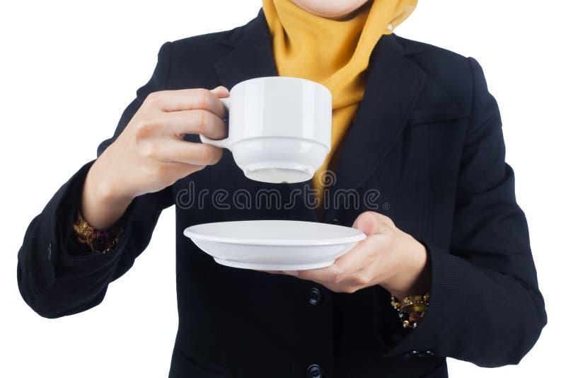 Νέα και όμορφη επιχειρησιακή γυναίκα Muslimah στοκ φωτογραφία