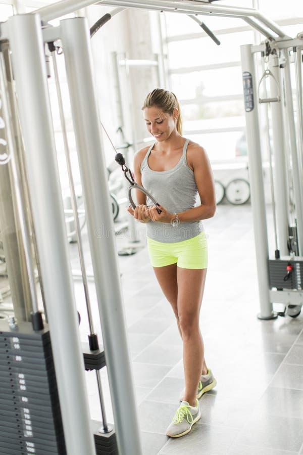Νέα κατάρτιση γυναικών στη γυμναστική στοκ φωτογραφία με δικαίωμα ελεύθερης χρήσης