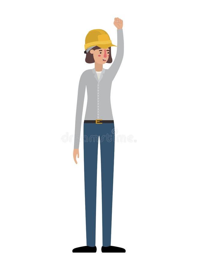 Νέα κατασκευή γυναικών με το χέρι επάνω στο χαρακτήρα ειδώλων απεικόνιση αποθεμάτων