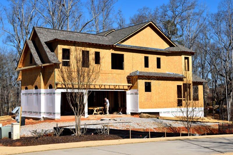 Νέα κατασκευή κατοικιών, Γεωργία, ΗΠΑ στοκ εικόνα με δικαίωμα ελεύθερης χρήσης