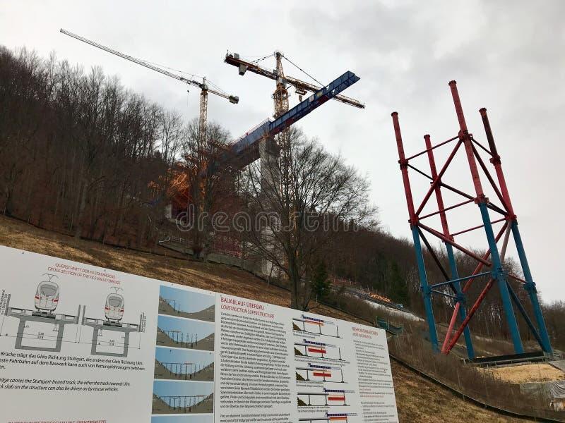 Νέα κατασκευή σηράγγων - Στουτγάρδη 21, Aichelberg στοκ φωτογραφίες
