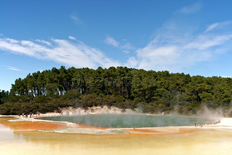 νέα λίμνη Ζηλανδία τοπίων σα&mu στοκ εικόνες