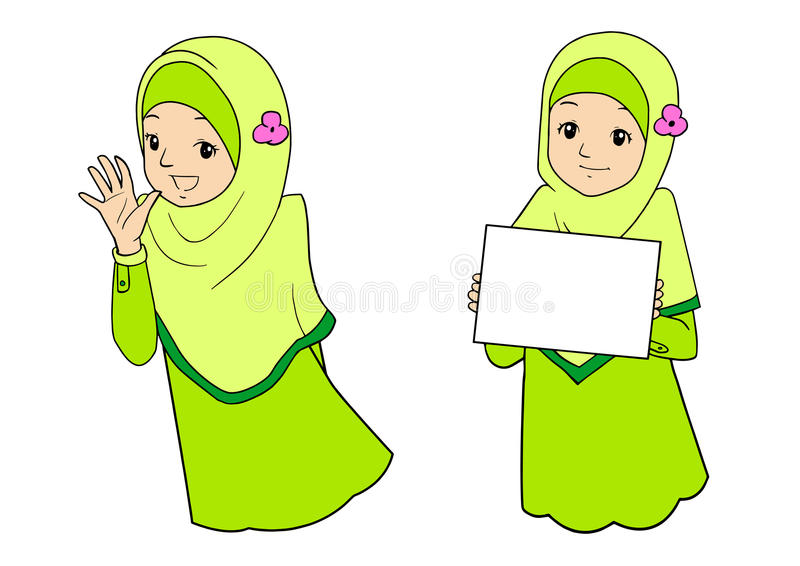 Νέα μουσουλμανική γυναίκα με τις εκφράσεις του προσώπου στοκ εικόνες
