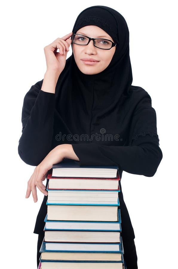 Νέα μουσουλμανική γυναίκα σπουδαστής στοκ εικόνα με δικαίωμα ελεύθερης χρήσης