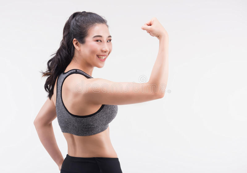 Νέα νέας υγιούς και τρόπου ζωής έννοια γυναικών ικανότητας, στοκ εικόνα με δικαίωμα ελεύθερης χρήσης