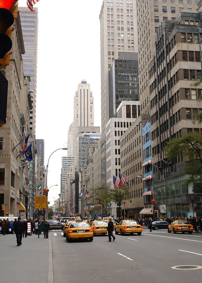 νέα οδός Υόρκη πόλεων στοκ εικόνα με δικαίωμα ελεύθερης χρήσης