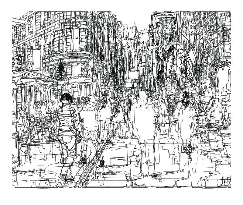 νέα οδός Υόρκη πόλεων απεικόνιση αποθεμάτων