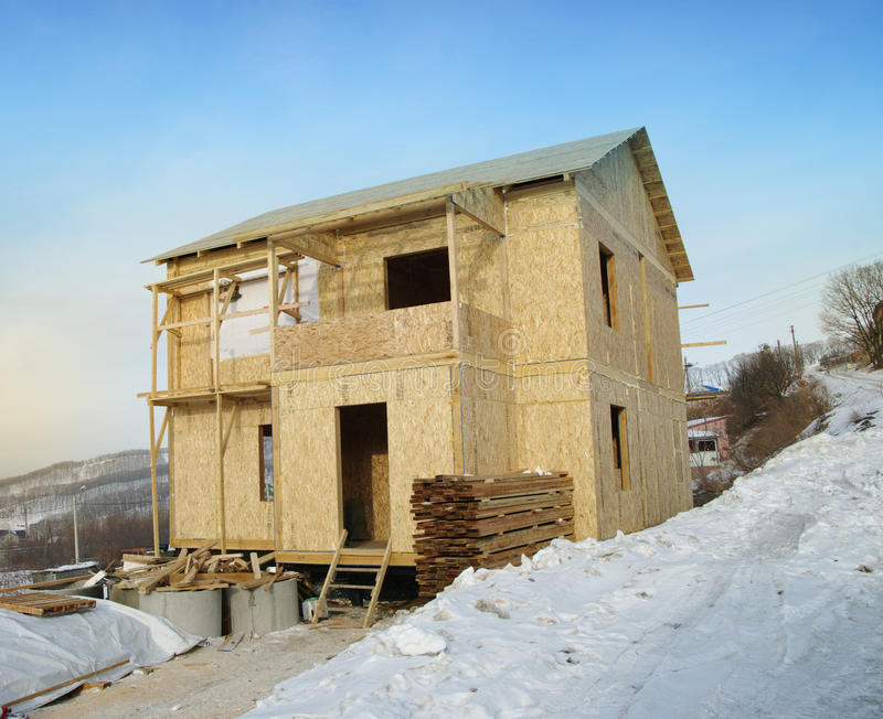 Νέα 'Οικία' κάτω από την κατασκευή στοκ φωτογραφία με δικαίωμα ελεύθερης χρήσης