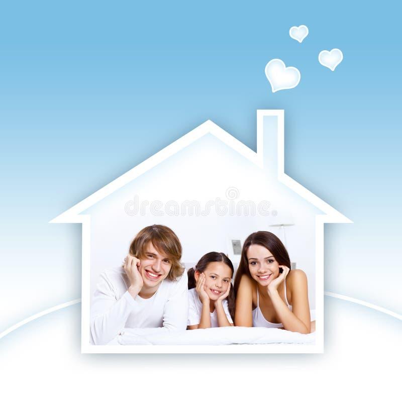 Όνειρα της νέας οικογένειας στοκ φωτογραφία με δικαίωμα ελεύθερης χρήσης