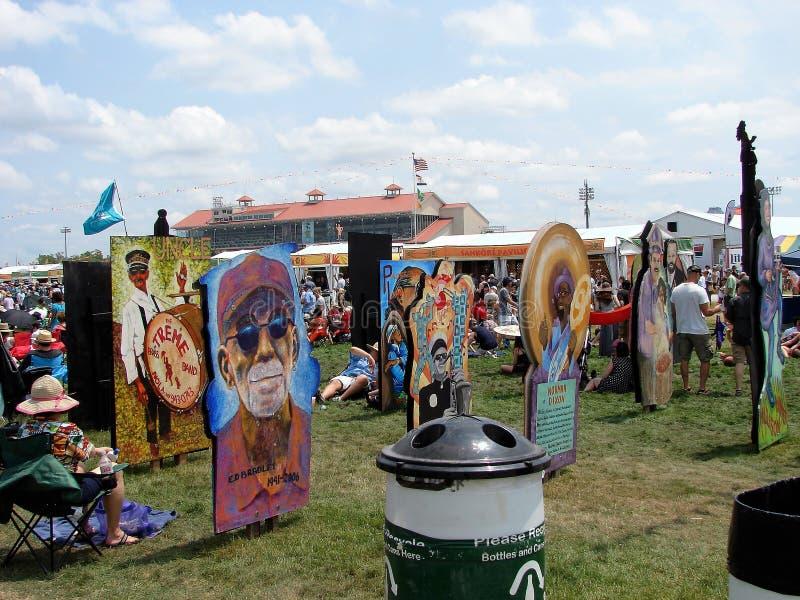 Νέα Ορλεάνη Jazz & μεγάλο εύκολο ύφος φεστιβάλ κληρονομιάς στοκ εικόνες