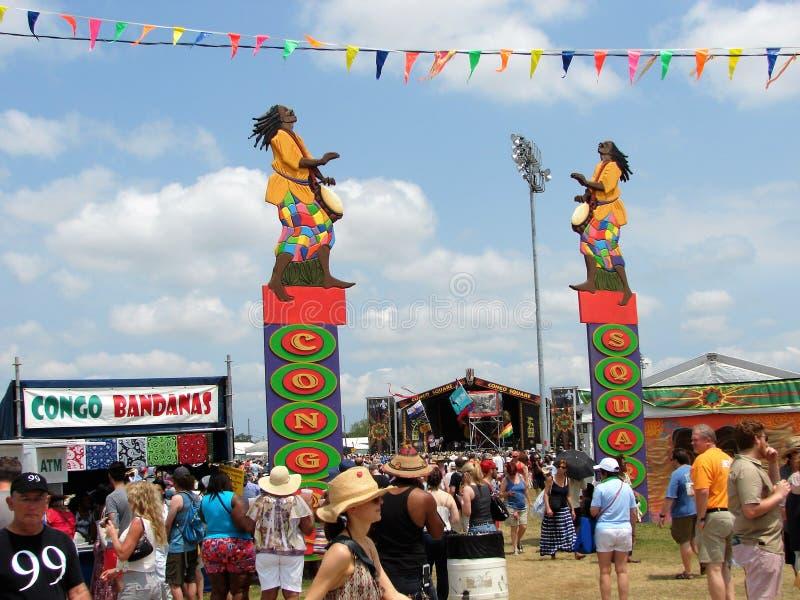 Νέα Ορλεάνη Jazz & μεγάλο εύκολο ύφος Congo Square φεστιβάλ κληρονομιάς στοκ εικόνες με δικαίωμα ελεύθερης χρήσης