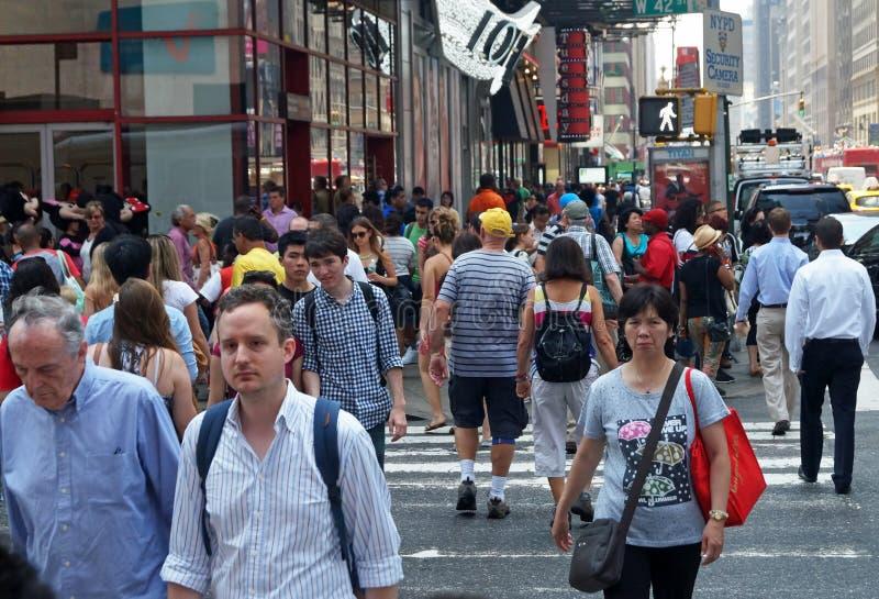 νέα οδός Υόρκη σκηνής πόλεω& στοκ εικόνα