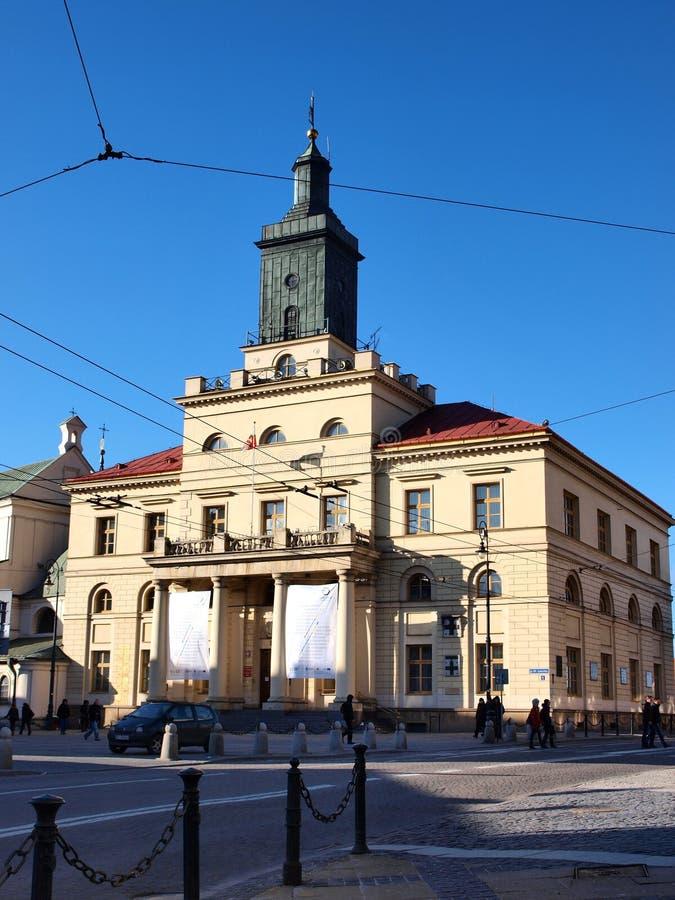 νέα Πολωνία αιθουσών πόλη του Lublin στοκ εικόνες με δικαίωμα ελεύθερης χρήσης