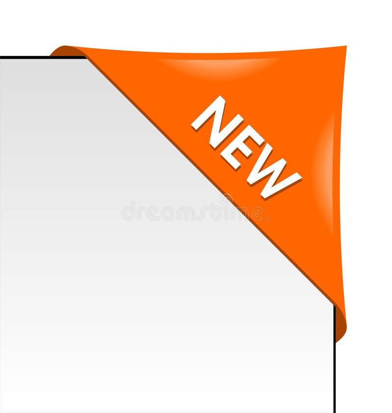 νέα πορτοκαλιά κορδέλλα &e διανυσματική απεικόνιση