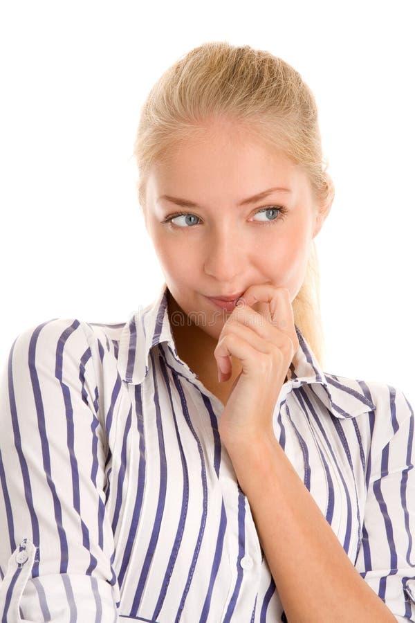 Νέα σκέψη γυναικών στοκ εικόνα με δικαίωμα ελεύθερης χρήσης