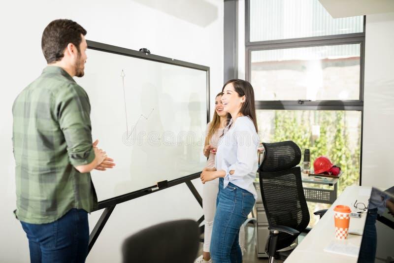 Νέα στρατηγική 'brainstorming' επιχειρηματιών στοκ εικόνα