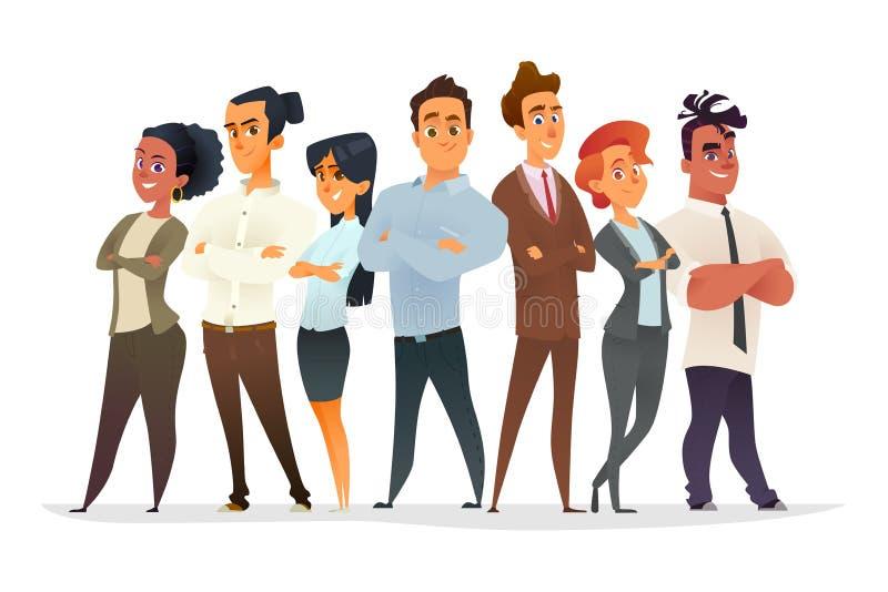 Νέα συλλογή χαρακτήρων επαγγελματιών λευκό επιχειρησιακών απομονωμένο έννοια ομάδων Στρατολόγηση των επιτυχών νέων διευθυντών ελεύθερη απεικόνιση δικαιώματος