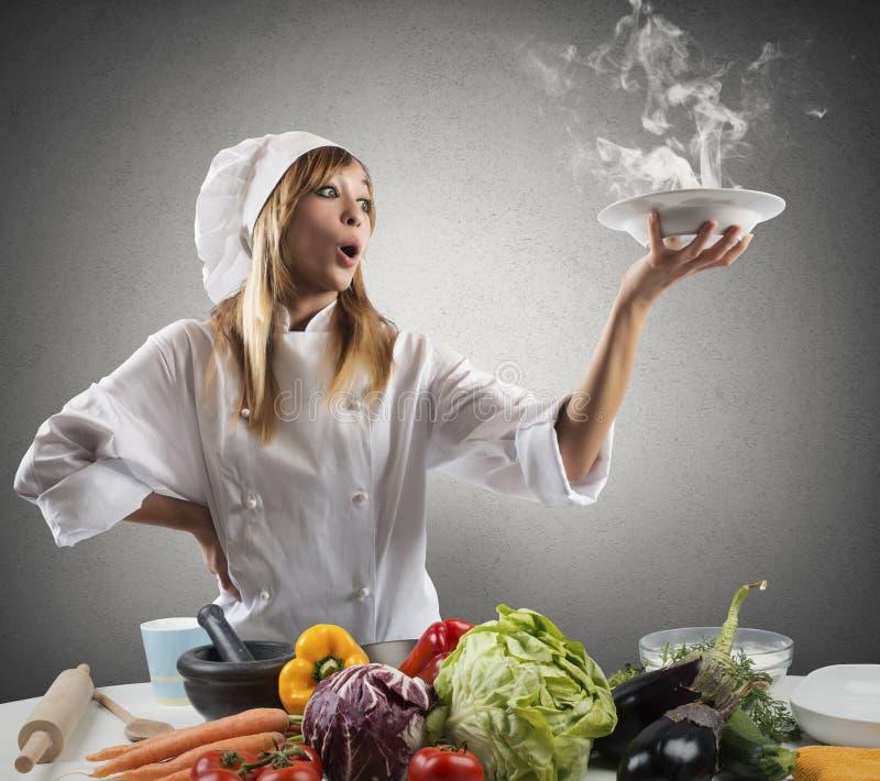 Νέα συνταγή για έναν αρχιμάγειρα στοκ εικόνα με δικαίωμα ελεύθερης χρήσης