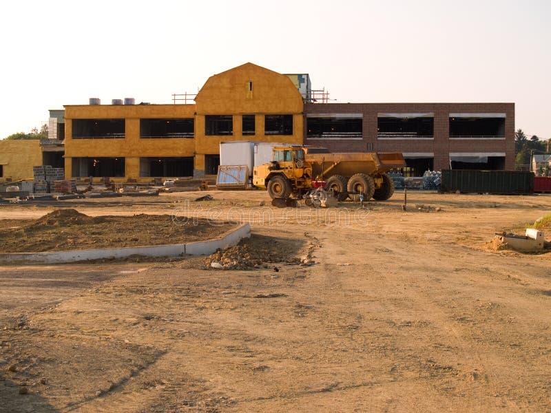 νέα σχολική περιοχή κατασκευής στοκ εικόνες με δικαίωμα ελεύθερης χρήσης