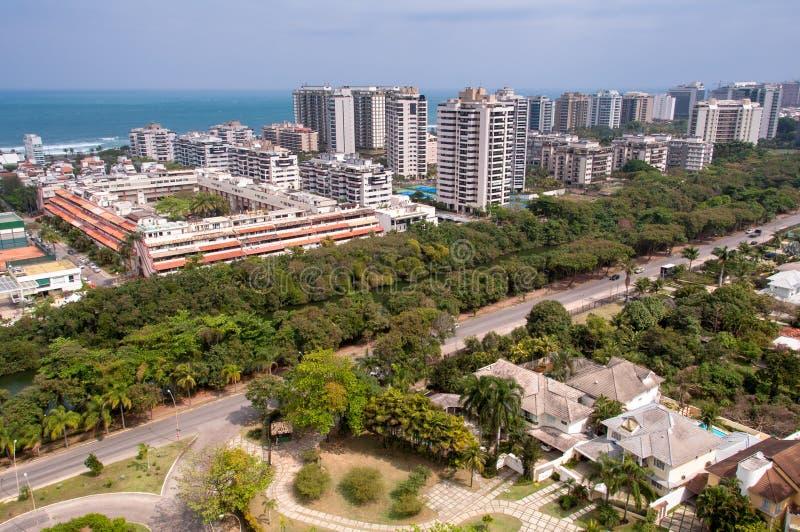 Νέα σύγχρονα κτήρια συγκυριαρχιών στο Ρίο ντε Τζανέιρο στοκ εικόνες