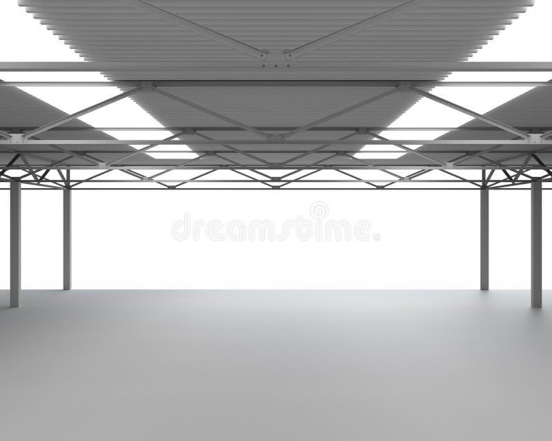 Νέα σύγχρονη κενή αποθήκη διανυσματική απεικόνιση
