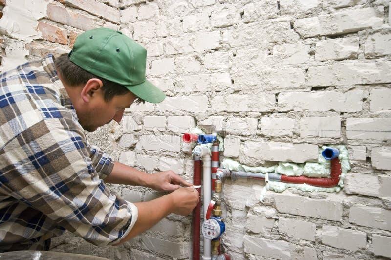 νέα υδραυλική εγκατάστα&s στοκ εικόνες