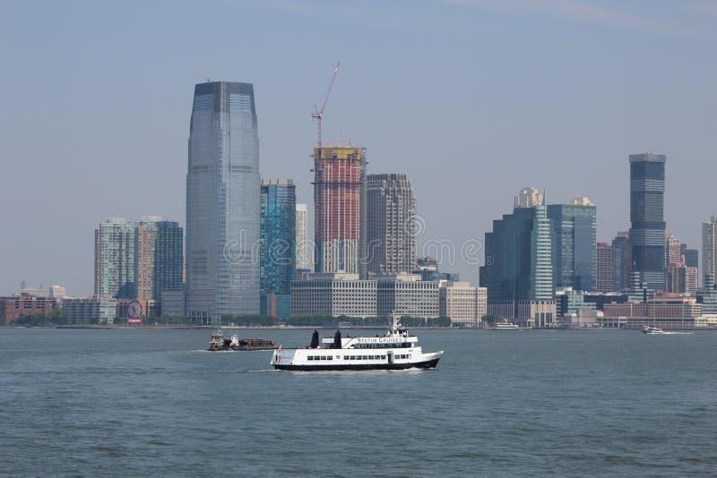 Νέα Υόρκη από τον ποταμό του Hudson στοκ φωτογραφία με δικαίωμα ελεύθερης χρήσης