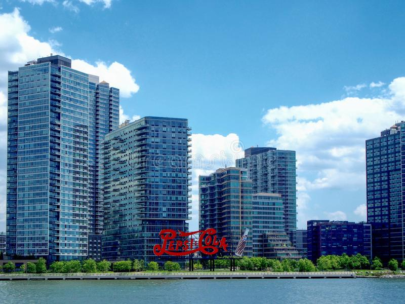 Νέα Υόρκη - Ηνωμένες Πολιτείες, σημάδι κόλας της Pepsi Long Island στη Νέα Υόρκη στοκ εικόνες