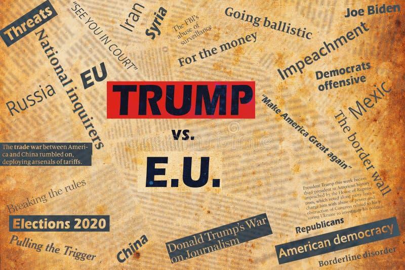 Νέα Υόρκη, ΗΠΑ - 04 Ιανουαρίου 2020: Η Ευρωπαϊκή Ένωση θα πρέπει επίσης να στοκ φωτογραφία με δικαίωμα ελεύθερης χρήσης