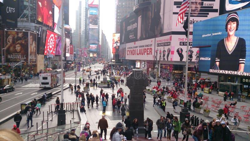 Νέα Υόρκη, 22.2017 Ιανουαρίου Times Square στη Νέα Υόρκη στοκ φωτογραφίες με δικαίωμα ελεύθερης χρήσης