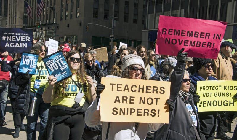 Νέα Υόρκη Μαρτίου για τις ζωές μας, στοκ εικόνες