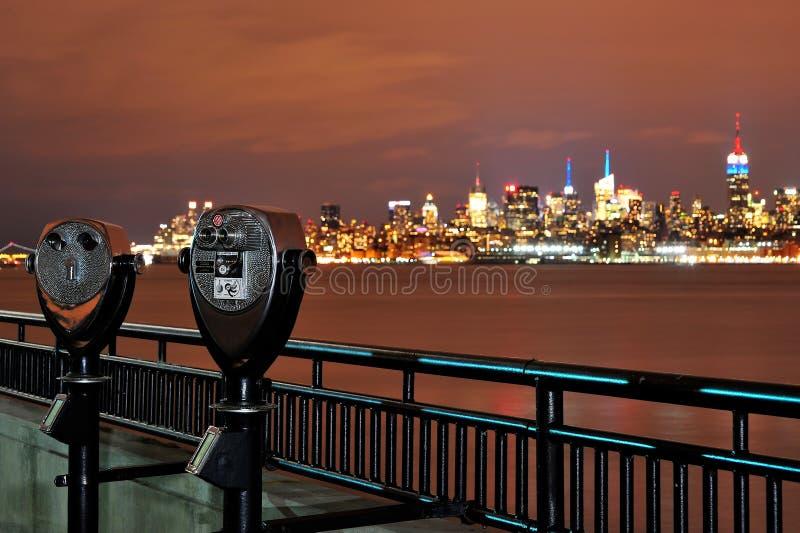 Νέα Υόρκη τη νύχτα στοκ εικόνα με δικαίωμα ελεύθερης χρήσης